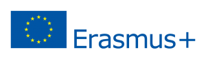 The Erasmus plus logo and the EU flag.