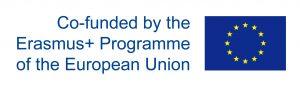 The Erasmus plus logo and the EU flag.